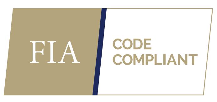 Gold FIA Code Compliant logo